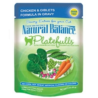 Natural Balance Platefulls Chicken & Giblets Formula in Gravy, 24/3 Oz
