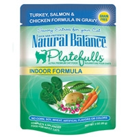 Natural Balance Indoor Formula Platefulls Turkey, Salmon & Chicken Formula in Gravy, 24/3 Oz