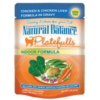 Natural Balance Indoor Formula Platefulls Chicken & Chicken Liver Formula in Gravy 3 Oz