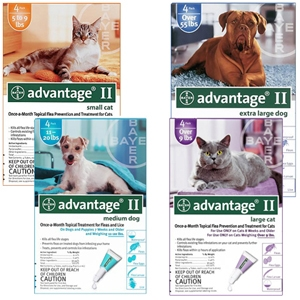 Advantage II Flea Treatment Large Cat Purple 6 Month Supply, 10+ Lbs