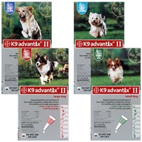 Advantix II Green Small Dog 4 Month Supply, 1-10 Lbs