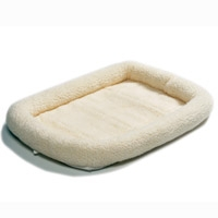 "Midwest Quiet Time Pet Bed 30"" Synthetic Sheepskin  Model #40230"
