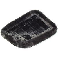Midwest Quiet Time Fur Pet Bed Gray 18X12