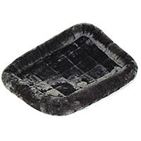Midwest Quiet Time Pet Bed - Plush Fur Pearl Gray - Model #40222-GY