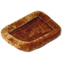 Midwest Quiet Time Fur Pet Bed Cinnamon