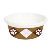 Petmate Designer Bowl Argyle Paws 8 Cups