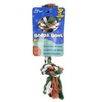 Aspen Pet Multi-Color 2-Knot Rope Bone - Small