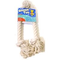 Aspen Pet White Booda - 3-Knot Rope Tug - XLarge
