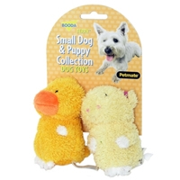 Aspen Pet Boody Puppy & Small Dog Two Pack Terry   Duck/Pig
