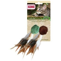 Kong Naturals Crinkle Ball With Feathers