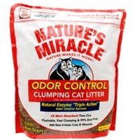 Nature's Miracle Odor Control Clump Litter 4/10 lbs