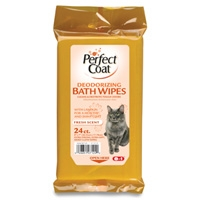 8in1 Cat Deodorizing Bath WIpes 24 Count