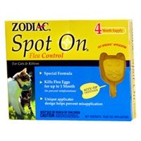 Zodiac Spot On Flea Control For Cat/Kitten 4 Pack