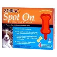 Zodiac Z-212 Spot On Flea & Tick Control Puppy 4 Pack