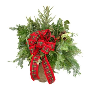 Custom Holiday Fresh Greens Handcrafted by Plymouth Nursery