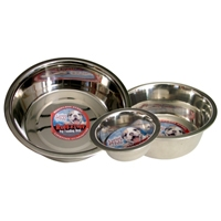 Loving Pets Striped Stainless Steel Dish 5Qt