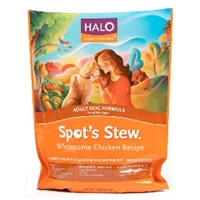 Halo Spot's Stew Adult Dog Wholesome Chicken, 4 x 10 lb.