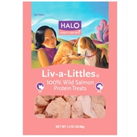 Halo Liv-A-Littles Whole Salmon Treats Pouch 0.7 oz.