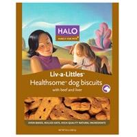 Halo Liv-A-Littles Healthsome Dog Biscuit Beef,  8 oz.