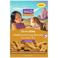Halo Liv-A-Little Healthsome Dog Biscuit Vegetarian 8 oz.