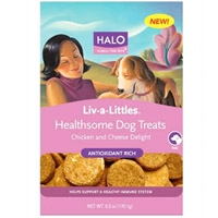 Halo Live-A-Littles Healthsome Well-Being Treat Chicken & Cheese 6 oz.