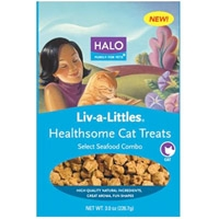 Halo Liv-A-Littles Healthsome Cat Treats Seafood Combo 3 oz.