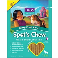 Halo Spots Chew Dental Treat Mint Small/Medium 7.2 oz.