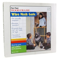 Four Paws Wood Frame Wire Mesh Gate