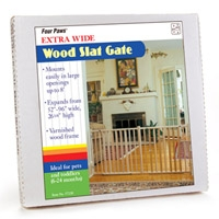 Four Paws Wood Slat Gate