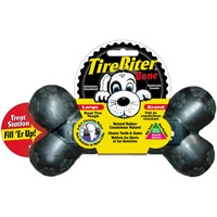 "Mammoth Pet Large 7.25"" TireBiter Bone w/Treat Station"