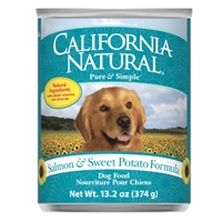 Natura California Natural Dog Salmon/Sweet Potato 12/13.2 Oz