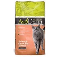 AvoDerm Natural Salmon & Brown Rice Corn Free Cat Food 14 lb.