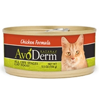 AvoDerm Natural Chicken Formula Cat Food 5.5 Oz