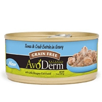 AvoDerm Natural Tuna & Crab Meat Entrée in Gravy - Cat 24/3 oz.