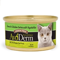 AvoDerm Natural Tuna & Chicken Entrée With Vegetables - Cat 24/3 oz.