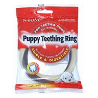 N-Bone Puppy Teething Ring Chicken Flavor 6 pack