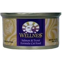 Wellness Canned Cat Salmon & Trout 24/3 oz Case