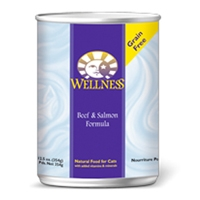 Wellness Beef & Salmon Canned Cat 12/12.5 oz