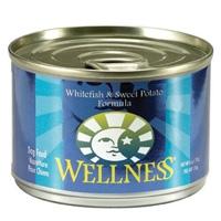 Wellness Canned Dog Fish & Sweet Potato 24/6 oz Case