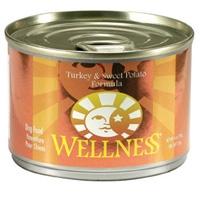 Wellness Canned Dog Turkey & Sweet Potato 24/6 oz Case
