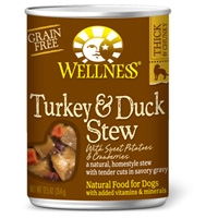 Wellness Turkey & Duck Stew with Sweet Potatoes & Cranberries 12/12.5 oz. Can