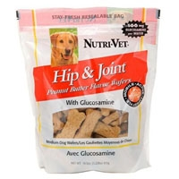 Nutri-Vet Hip & Joint Peanut Butter Wafers Small 8 oz.