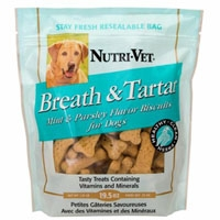 Nutri-Vet Breath & Tartar Mint & Parsley Medium Biscuit 19.5 oz.