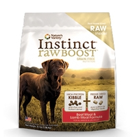 Nature's Variety Instinct Raw Boost Canine Kibble - Beef Meal Formula - 5/4.1 lbs.
