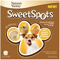 Nature's Variety Instinct Sweet Spots Peanut Butter & Honey Frozen Treat for Dogs 4 Pack