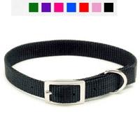"Coastal Style 401 5/8"" x 14"" Nylon Web Collar Black"