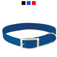 "Coastal Style 901 1"" x 18"" Heavy Weight Nylon Web Collar Blue"
