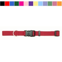 "Coastal Style 6601 3/4"" x 14-20"" Nylon Adjustable Collar Red"