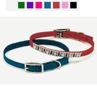 "Coastal Style 3201 3/8"" x 10"" Studded Jewel Collar Red"