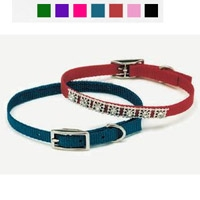 "Coastal Style 3201 3/8"" x 12' Studded Jewel Collar Red"